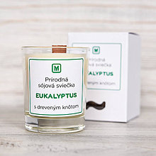 Svietidlá a sviečky - Sójová sviečka EUKALYPTUS - 10512460_