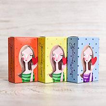 Drogéria - Sada 3 mydiel s ilustráciami DIEVČATKÁ - 10512746_