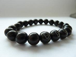 Náramky - náramek Natural Black Sandalwood - 10512639_