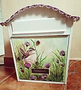 Nádoby - Maľovaná poštová schranka - 10514263_