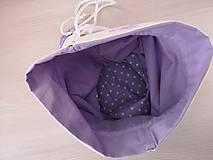 Iné tašky - Vrecúško na prezúvky - Lavender - 10517177_