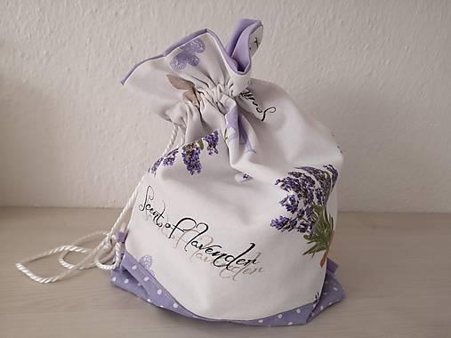 Vrecúško na prezúvky - Lavender
