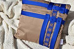 """Úžitkový textil - Dekoračný vankúš """"Preplet"""" - 10517732_"""