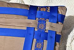 """Úžitkový textil - Dekoračný vankúš """"Preplet"""" - 10517734_"""