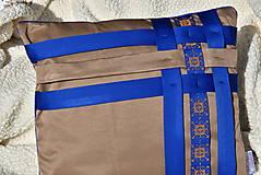 """Úžitkový textil - Dekoračný vankúš """"Preplet"""" - 10517739_"""