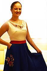 """Šaty - Spoločenské plesové šaty """"ako kysucký kroj"""" - 10517824_"""