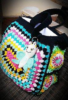 Veľké tašky - Háčkovaná kabelka do ruky aj na plece - 10515632_