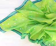 Šatky - Jarná zelená..hodvábna šatka - 10517523_