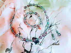 Šály - AKCIA-SET : šálik+náhrdelník,náramok,náušnice - 10517052_