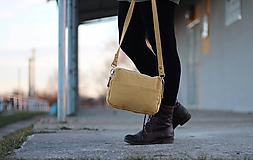 Mini kabelka - žltá