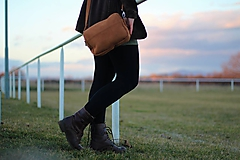 Mini kabelka - hnedá