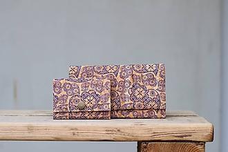 Peňaženky - Korková peňaženka S ornament - 10515681_