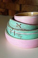 - Set bukových mís ružovo-mentolová (reservé) - 10517028_