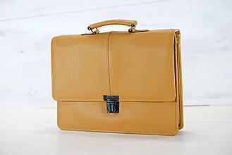 Veľké tašky - Pánska aktovka - Mikelo No.2 + peňaženka zadarmo - 10518054_