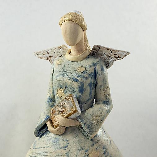 Dekorácie - Keramický anjel - Pravoslava. Výška 25 cm - 10516195_