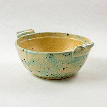 Nádoby - Miska z keramiky, tyrkysová - 0,3 l - 10515489_