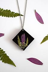 Náhrdelníky - Náhrdelník Papradie a Echinacea (2574 A CHO) - 10518561_