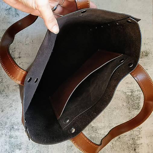 Kožená kabelka Lea (dark brown) 6cd7bc5b934