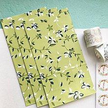 Papier - veľké papierové darčekové vrecká Flora (Zelená) - 10515994_