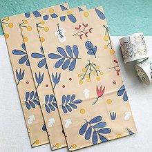 Papier - veľké papierové darčekové vrecká Flora (Hnedá) - 10515998_