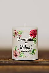 Darčeky pre svadobčanov - Menovka alebo darček pre svadobčanov - Sviečka - Vzor č.37 - 10517312_