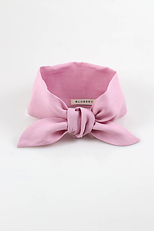 """Šatky - Elegantná dámska ľanová šatka """"Pink"""" - 10516837_"""