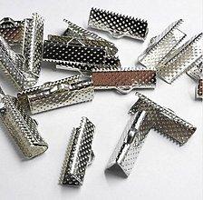 Komponenty - Koncovka na stuhu 25mm - rhodium/platina - 10516090_
