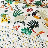 Textil - džungľa, 100 % bavlna Francúzsko, šírka 150 cm - 10516217_