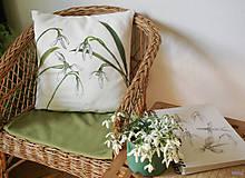 Úžitkový textil - Vankúš snežienky - 10518573_