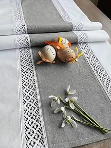 Úžitkový textil - Štóla s krajkou - 10517884_