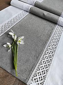Úžitkový textil - Štóla s krajkou - 10517887_