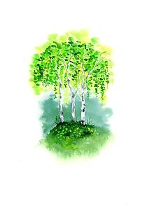 Obrazy - originál akvarel Jarné briezky - 10516063_