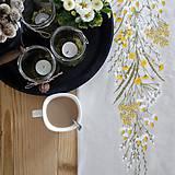 Úžitkový textil - Štóla na stôl - ručne maľované lúčne kvety - 10515773_