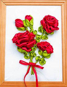 Obrazy - Bordové ruže-obraz - 10518085_