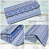 Peňaženky - Peňaženka FOLK modrá - 10517890_