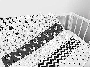 Úžitkový textil - Bielo - čierna deka pre bábätko - 10515758_