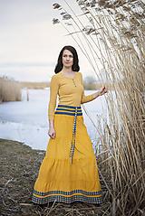 Sukne - Crochet waist skirt - yellow - 10517850_