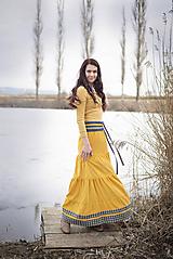 Sukne - Crochet waist skirt - yellow - 10517853_