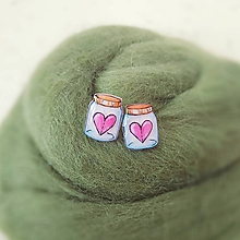 Náušnice - Láska vo fľašiach - 10516255_