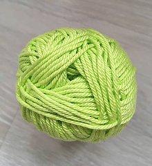 Nákupné tašky - Háčkovaná sieťovka (Zelená) - 10516179_