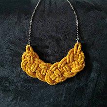 Náhrdelníky - Uzlový náhrdelník jarný - 10516388_