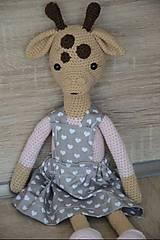 Hračky - Háčkovaná žirafka - 10515518_
