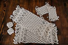 Úžitkový textil - macramé pod šálku - 10515611_