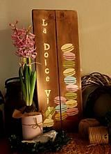 Tabuľky - La Dolce Vita - dekoračná tabuľka - 10518629_
