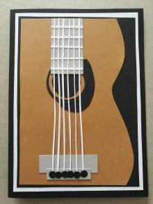 Papier - Gitara pre hudobníkov - pohľadnica - 10515903_