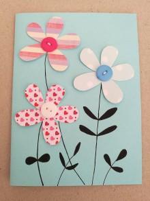 Papier - Kvetinová pohľadnica - 10517232_