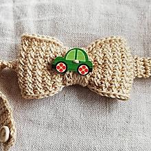 Detské doplnky - Motýlik Autíčko pre malého gentlemana - 10516790_