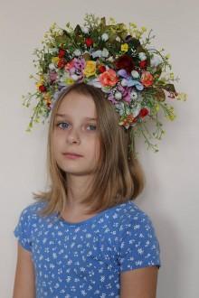 Ozdoby do vlasov - Letná svadba - čelenka - 10516882_