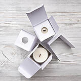Svietidlá a sviečky - Sójová sviečka NATURAL - 10515928_