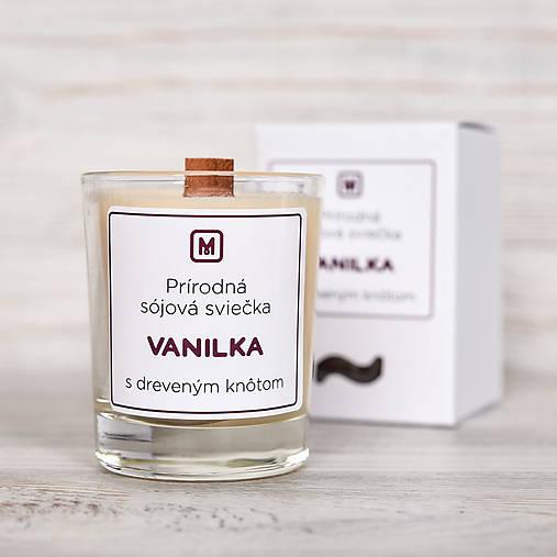 Svietidlá a sviečky - Sójová sviečka VANILKA - 10515933_